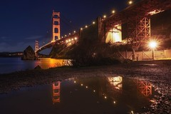 I've been high, I've been down (karinavera) Tags: city longexposure night photography cityscape urban ilcea7m2 sunset sanfrancisco down goldengate