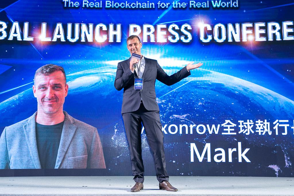 世界唯一實名制區塊鏈 Maxonrow立足台灣,瞄準亞洲數位經濟潛力市場(圖說:陽光區塊鏈Maxonrow全球執行長Mark)