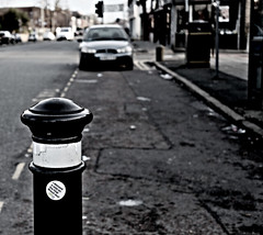 BREXIT! Let the bollards have their say! (ronramstew) Tags: liverpool merseyside bollard brexit vote bw blackandwhite politics