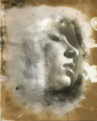 Ambient Mind (micalngelo) Tags: analog filmphoto portrait mamiyarz acros100 alternativeprocess alternativephotography chromoskedasicprocess chrmoskedasicssabattier ilfordwarmtonepaper