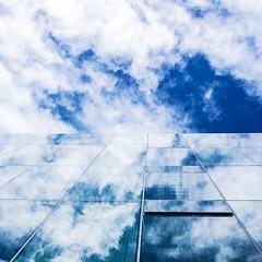 Window to the sky (joannab_photos) Tags: white blue skyporn barcelona glass reflection clouds sky