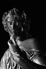 Portrait of a classical statue in black and white (mediatripjason) Tags: face statue art antique sculpture god greek monument old culture roman portrait ancient history travel classic greece europe museum rome white bust head mythology athens handsome historical classical hair young venus girl human vintage beautiful beauty traditional lady female closeup sculptures black bw