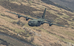 Passing in and out (Newage2) Tags: raf valley a5 lowlevel lowflying lfa7 wales c130 c130j brizenorton hercules
