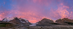 Sunrise at the Columiba Icefields (L to R - Mounts Athabasca, Andromeda, Athabasca Glacier, Snowdome, Dome Glacier and Kitchener), Jasper National Park, Alberta (www.clineriverphotography.com) Tags: snowdome sunrisesunset athabascaglacier domeglacier jaspernationalpark panorama aspect yeartaken mountandromeda mountathabasca alberta columbiaicefields canada location 2011 light mountkitchener