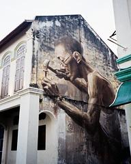 (Hem.Odd) Tags: wallpainting wallart streetart olympusxa3 expired xtra800 fujifilm wall malaysia kualalumpur mural