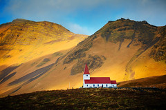 Vik (Mathijs Buijs) Tags: vik myrdal south southern iceland europe canon eos 5d church mountains light mark mk iii