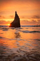 Bewitched by Bandon (PatT&5) Tags: oregon oregoncoast beach bandon sunset orange witcheshat