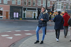 Ceintuurbaan - Amsterdam (Netherlands) (Meteorry) Tags: europe nederland netherlands holland paysbas noordholland amsterdam amsterdampeople candid streetscene people zuid oudzuid depijp south sud ceintuurbaan ferdinandbolstraat guy homme male boy student twink teen tall jeans trottoir pavement dutch cute hunk december 2018 meteorry