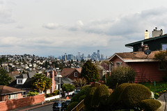 Early Spring Seattle Views 13 (C.M. Keiner) Tags: seattle washington usa city cityscape skyline mountains pacific northwest puget sound spring trees blossoms urban magnolia streetscape cherry