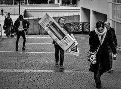 carrying the keyboard (alexi278) Tags: keyboard carrying music people walking procession monochrome