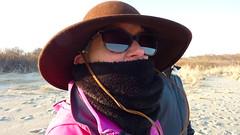 Cynde on a Quick Walk on Gooseberry Island (wildukuleleman) Tags: gooseberry island westport ma massachusetts beach horseneck cold february