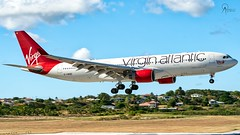 Virgin Atlantic | G-VWND | Airbus A330-223 | BGI (Terris Scott Photography) Tags: pw4168 aircraft airplane aviation plane spotting nikon d750 tamron 70200mm f28 travel barbados jet jetliner virgin atlantic airbus a330 200 gatwick sky