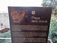 Sign at Plaça dels Jueus, Besalú, Spain (Paul McClure DC) Tags: besalú spain catalonia catalunya españa cataluña feb2019 sign historic