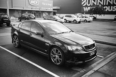 2008 Holden Commodore SS (Matthew Paul Argall) Tags: kodakstar500af 35mmfilm blackandwhite blackandwhitefilm ilforddelta100 100isofilm car vehicle automobile transportation holden generalmotors holdencommodore