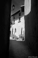 Carcassonne Side Street (Dave Snowdon (Wipeout Dave)) Tags: davidsnowdonphotography france francais canoneos80d languedocroussillon street blackandwhite carcassonne