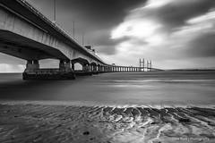 Severn Bridge (Chris Renk) Tags: severnbridge england bristol sky blackandwhite landscapephotography bigstopper river britishlandscape bridge architecturephotography