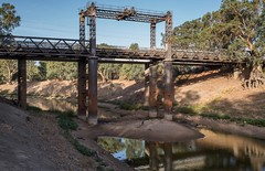 Darling River heritage (OzzRod) Tags: pentax k1 hdpentaxdfa2470mmf28 darlingriver wilcannia roadbridge heritage dry waterhole drought savethedarling