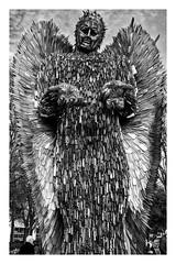 knife angel front b&w framed (Mallybee) Tags: knife angel statue streetart hull mallybee bw blackandwhite blackwhite apsc bayer xmount fuji fujifilm xt100 16mm f14 fujinon outside