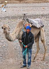 The Lives of Others (Ellsasha) Tags: cameldriver camels wadibed riverbed dry burden burdens lady morocco moroc