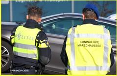 Dutch Police And KMAR Officer. (NikonDirk) Tags: nikondirk politie police military koninklijke marechaussee highway brabant borderpatrol border kmar patrol