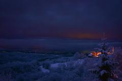 Beautiful snowy evening (bornapetrovcic) Tags: light winter snow d800 nikon bornapetrovcic bornapetrovčić lagotto'speak zumberak kroatien hrvatska croatia hills mountains clouds longexposure night