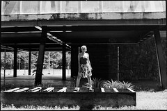 Kim   Arena Pananal, Cuiabá, MT, Brasil (fotografia analógica - Nikon F401S, 50mm 1.8, Kodak Tri-X 400 @ 800, D-76 stock). (Paulisson Miura) Tags: filmphotography filmphoto filme filmcamera filmisnotdead film analógica analog analogue analogcamera fotografiaanalógica 35mm 35mmfilm 50mmlens kodak trix 400 expiredfilm 400pushedto800 portrait blackandwhite pretoebranco monochrome greyscale bw bnw pb girl woman women ensaio photoshoot day light nikon f401s n4004s arenapantanal cuiabá mt matogrosso brasil brazil brazilian brésil beauty beautiful street streetphotoraphy urban urbano lightroom grain noir developing developer revelação revelador d76 homedeveloped