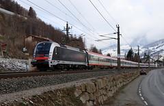 ÖBB 1216 025-7 World record 357km/h, Eurocity Matrei am Brenner (TaurusES64U4) Tags: öbb 1216 taurus