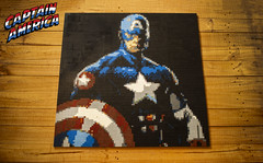 LEGO Captain America Mosaic (Ben Cossy) Tags: moc afol tfol lego captain america cap living legend mosaic ww2 wwii marvel comic comicbook mcu