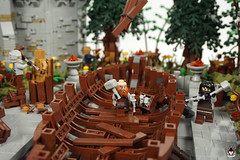 Lond Daer - Shipyard (Barthezz Brick) Tags: lego lond daer middle middleearth medieval fantasy moc afol barthezz barthezzbrick brick custom lotr lord rings lordoftherings shipyard pub castle wall city