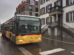 Postauto line 830 (sander_sloots) Tags: postauto bus mercedes benz citaro uster switzerland zwitserland busline road weg yellow geel