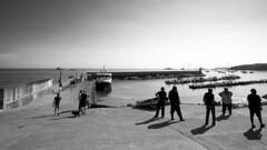 After the landing (mostodol) Tags: houat ile isle france french morbihan bretagne breizh bzh fuji fujfilm xt20 boats bateaux boat bateau noiretblanc noir blanc black white monochrome eau water ocean mer sea atlantique atlantic port harbor