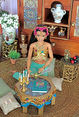 (♥ Little Enchanted World ♥) Tags: arabian nights conventio portuguese barbie dolls table gifts handmade little enchanted world lamp book belly dance props miniatures made move mtm soccer player