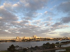 Perth skyline bathed in morning sunlight (Simon_sees) Tags: perth cbd skyline city cityscape australia destination