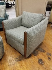 NEW Venus Swivel Chair (Brian's Furniture) Tags: norwalk furniture market 2019 spring brians westlake ohio 44145 westside cleveland premarket high quality american made lifetime warranty springs frame cushion core unlimited choices options customizable rocky river bay village upholstered built order locally shop local usa venus swivel chair walnut wood arm accent fabrics only mid century style
