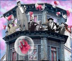 'On the Edge, off the Wagon & Pink Elephants!' (tishabiba) Tags: surreale surrealism surreal tish illusion perception conceptional artwork artphoto montage digitalart digitalmania pinkelephants booze delirium
