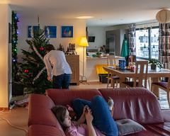 Decorating the Christmas tree (jpergunnar) Tags: cassandra jonathan family christmas holiday peoplefamily