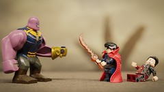 Fight on Titan against a Titan (Erik Petnehazi) Tags: custom lego avengers infinity war iron man doctor strange stephen dr damaged battle thanos customlego customlegominifigure marvel 3 suit living bricks legend c moc magic wizard time stone eye agamotto master mystic arts endgame end game ironman tony stark bleeding edge mark l 50 steel defender mk