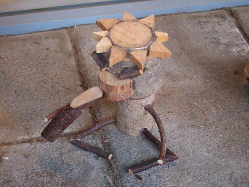 とてもキュートなカッパの手作り木製オーナメントと題した写真