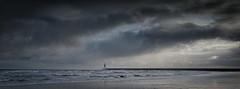 Winter Evening at Roker (MMiPhoto) Tags: roker sunderland wear durham coast sea lighthouse pier sand evening sky sunset fuji xt2