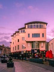 Bills Restaraunt Tunbridge Wells (aquanout) Tags: building restaraunt sky morning town kent road cars pastels