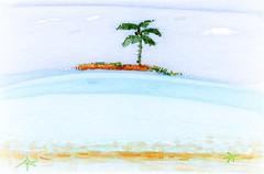 Daydreaming! (Marcia Portess-Thanks for a million+ views.) Tags: dreamy daydream blue palmera arbol playa beach atoll isla ocean naif naive sea tree palm elartedigital digitalart elarte art digitalfingerpainting fingerpainting marciaportess map daydreaming