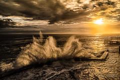 Sunrise (Luca-Anconetani) Tags: seascape ancona waves lemarche nikon lucaanconetani luceradente paesaggiomarchigiano regionemarche mare mareggiata mareadriatico passettodiancona an alba sunrise albaalpassetto longexposure onde skyandclouds