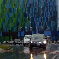 liquidità (fotomie2009) Tags: road pioggia savona square liguria italy italia rain automobile cars street strada officine hotel idea architecture architettura modern moderna