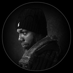 An Encircled Black and White Profile Portrait of Jeremiah (buddhadog) Tags: ransomfamily jeremiah maleportrait profileshoot 100vu storybookchallengewin 1win sweep 500vu 10faves cmwdblackandwhite
