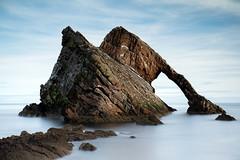 Bow Fiddle Rock (PeskyMesky) Tags: aberdeenshire portknockie bowfiddlerock landscape scotland rock longexposure water sea ocean canon canon5d eos