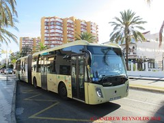 "2018 030701 SCANIA CASTROSUA ARTICULATED BUS AVANZA PORTILLO BUS 5827 0730JKX IN BENALMADINA (Andrew Reynolds transport view) Tags: europe spain andalucia transport bus coach transit passenger omnibus diesel ""mass transit"" 2018 030701 scania castrosua articulated avanza portillo 5827 0730jkx in benalmadina"