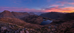 First Light Over Sprinkling Tarn, The Lake District (dandraw) Tags: thelakedistrict thelakes cumbria greatgable greengable sprinklingtarn blencathra skiddaw wildcamp wildcamping adventure outdoors mountains landscape sunrise sky clouds fuji fujifilm xt3