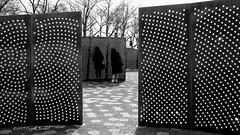 Peering Thru Prisms at Pier A. (CVerwaal) Tags: batterypark blackandwhite publicart sculpture newyork ny usa olympusem5 mzuiko17mmf18 susetsuriserevolution dharmeshpatel autumnewalt