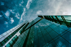 Epic reflection proportions (Sarah Rausch) Tags: architecture reflection urban city nashville building skyscraper clouds bridgestone sony