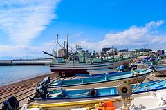 At Koshigoe fishing port in Kamakura : 腰越漁港にて (Dakiny) Tags: 2019 spring march japan kanagawa kamakura koshigoe shonancoast port city street nikon d750